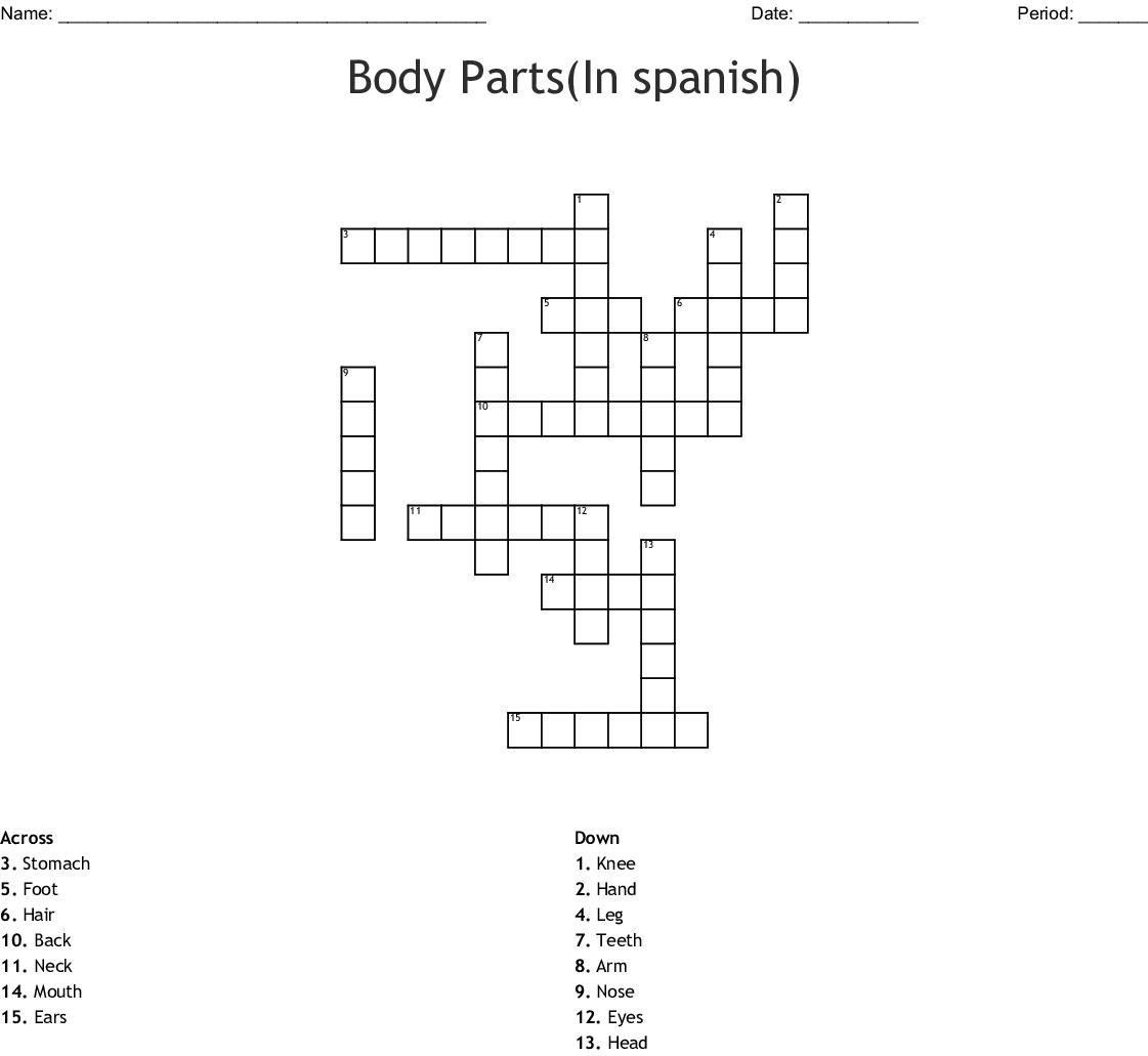Crossword Puzzle Printable In Spanish