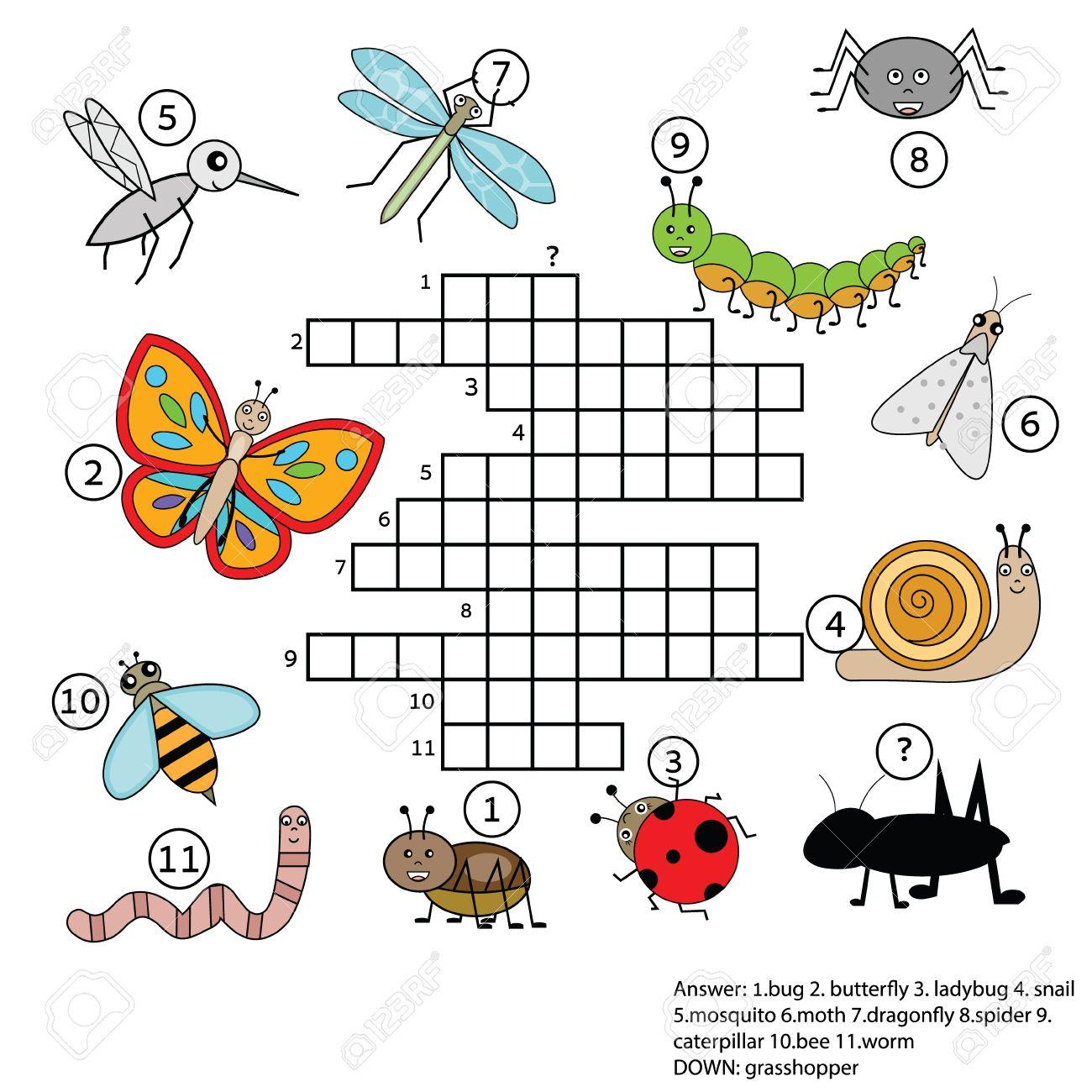 Insect Crossword Worksheet