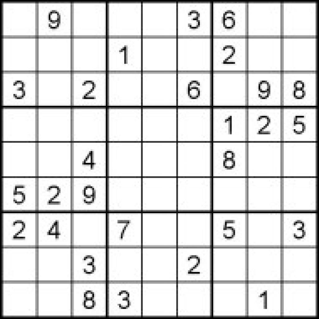 Printable Puzzles Sudoku