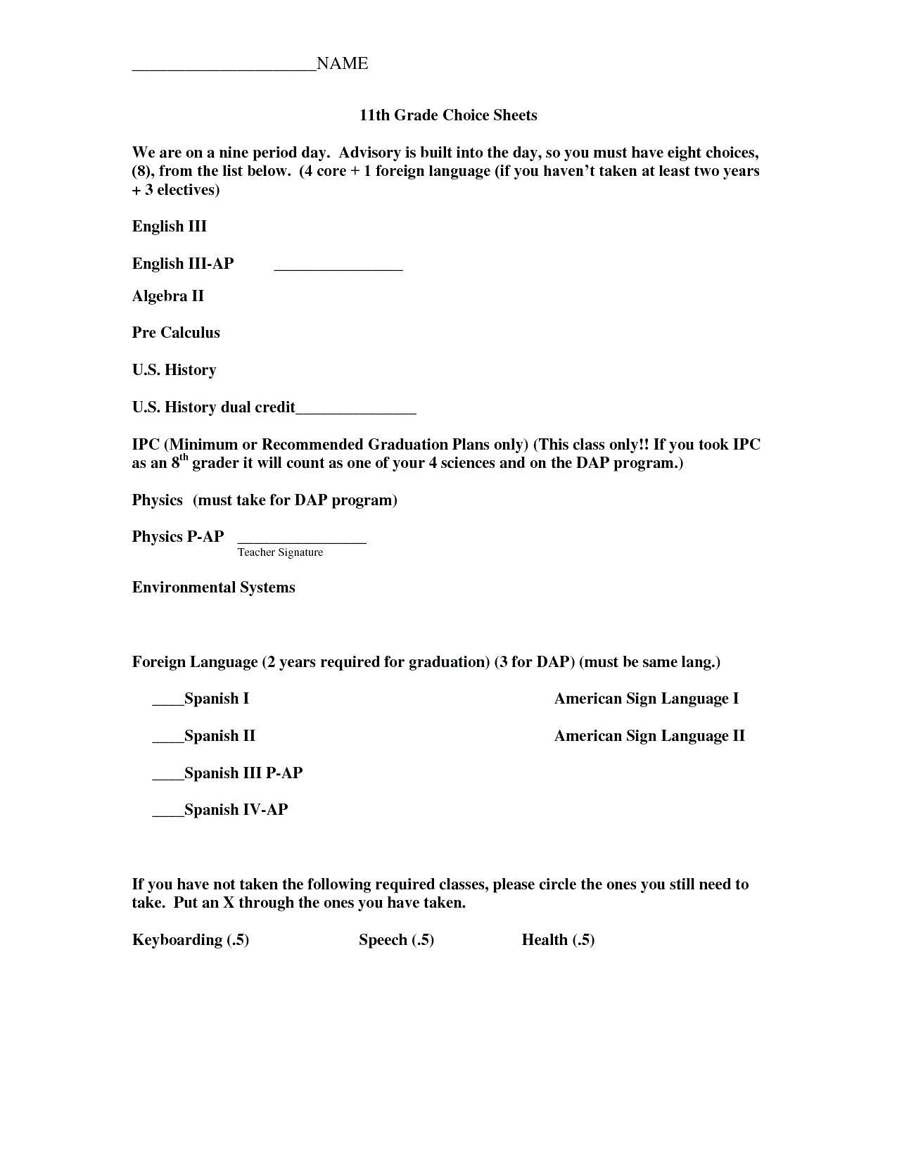 9th Grade English Worksheets Free Printable