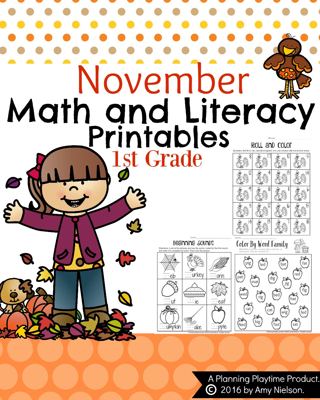 Fall Initial Sound Match Up Free Printable