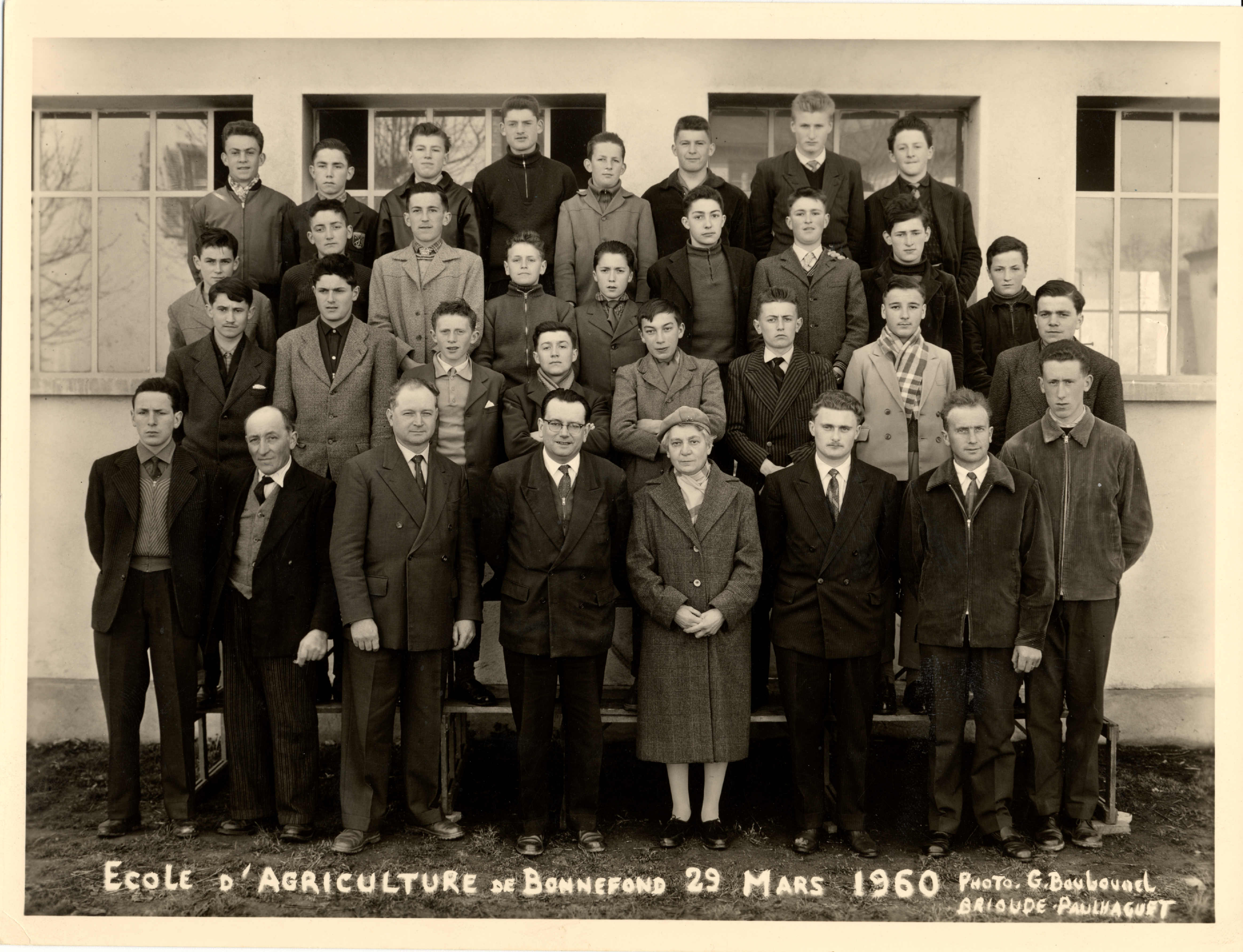 Photo de groupe - mars 1960