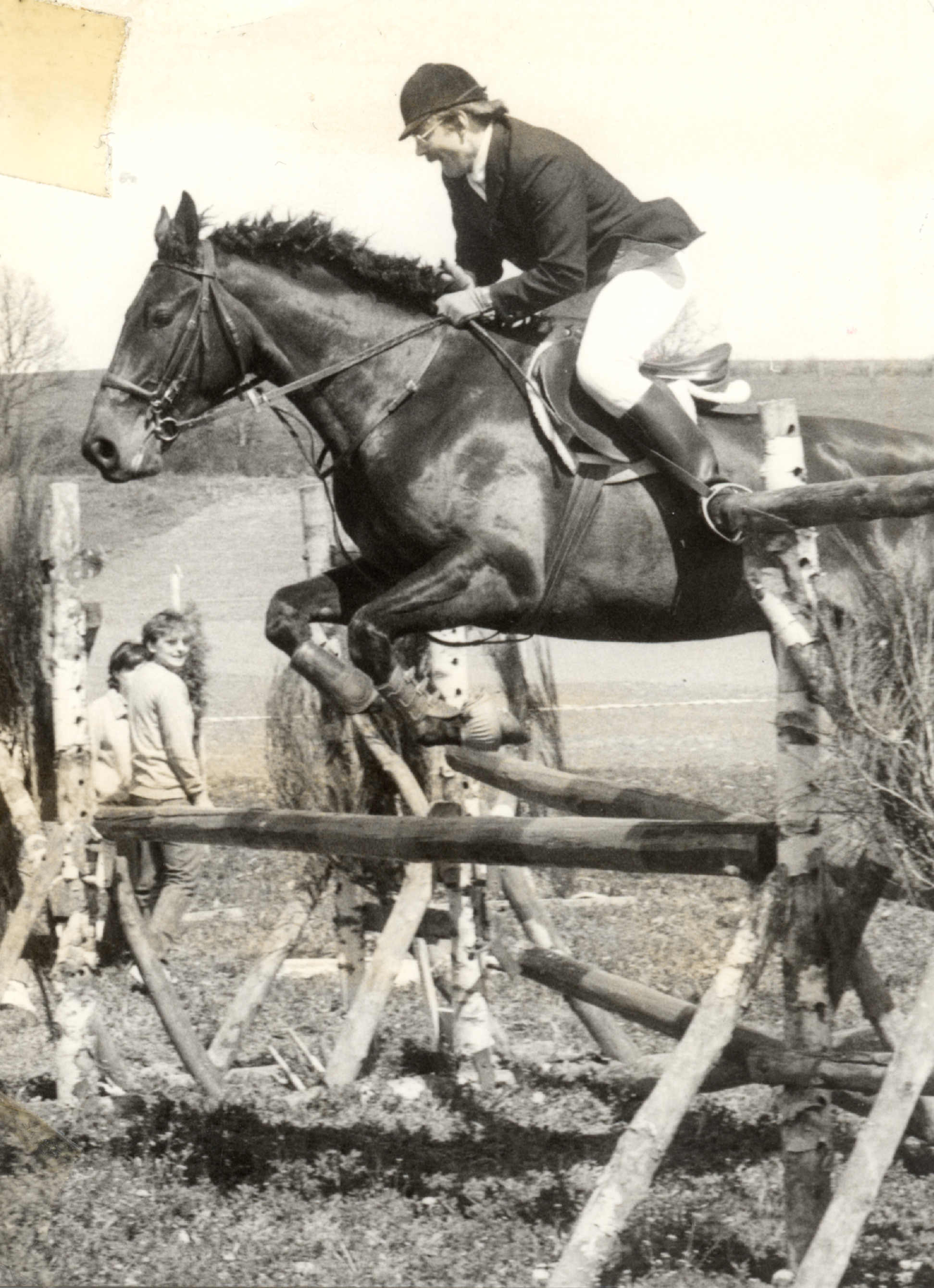 Debuts du centre equestre (cavalier au saut)