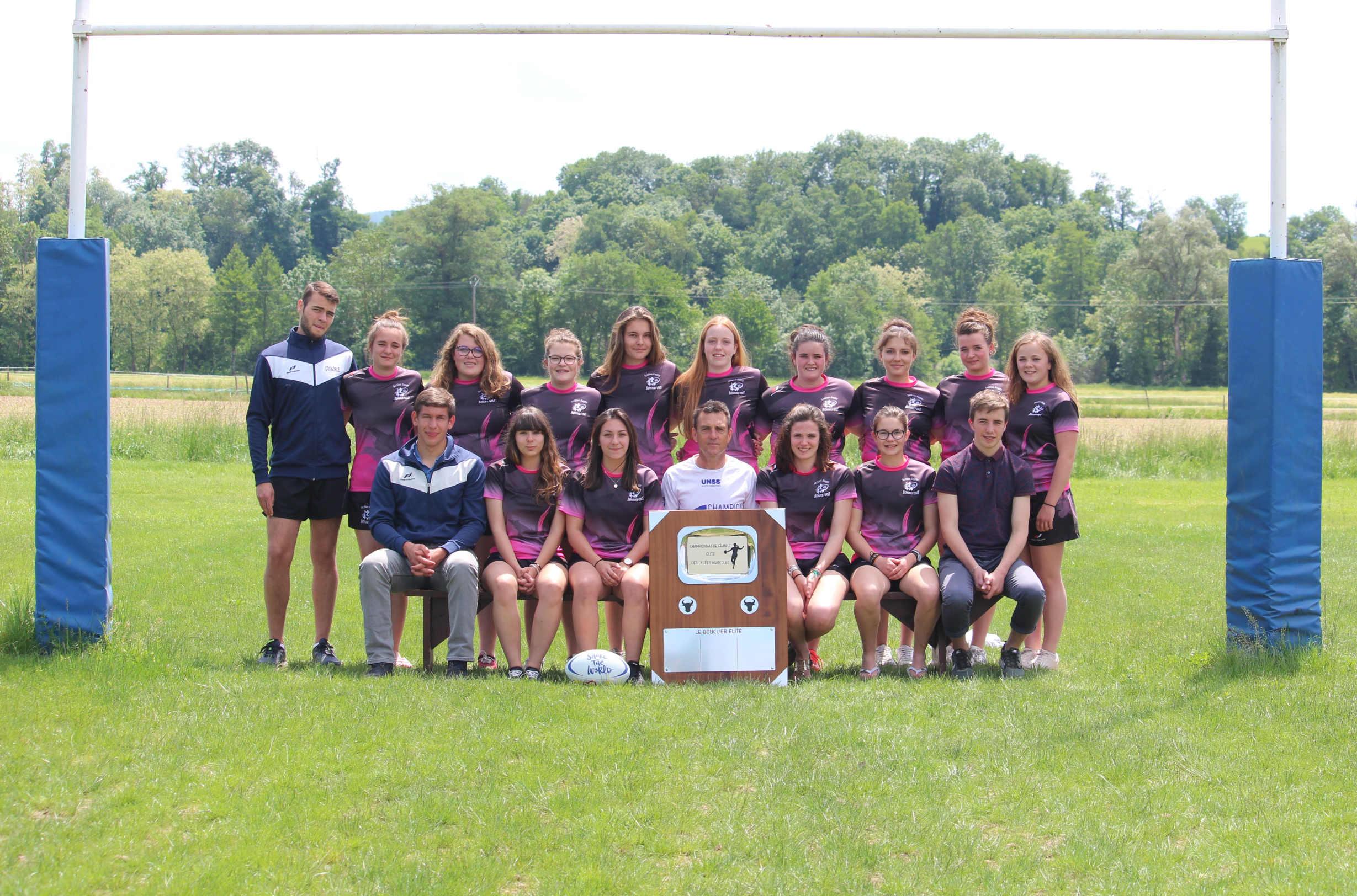 Equipe des Juniores, championnes de France Elite 2018 des lycées agricoles