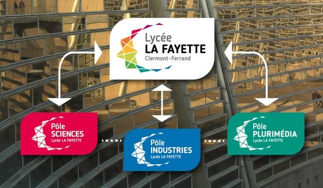 Le lycée La Fayette comprend le pôle Sciences, le pôle industries et le pôle plurimédia