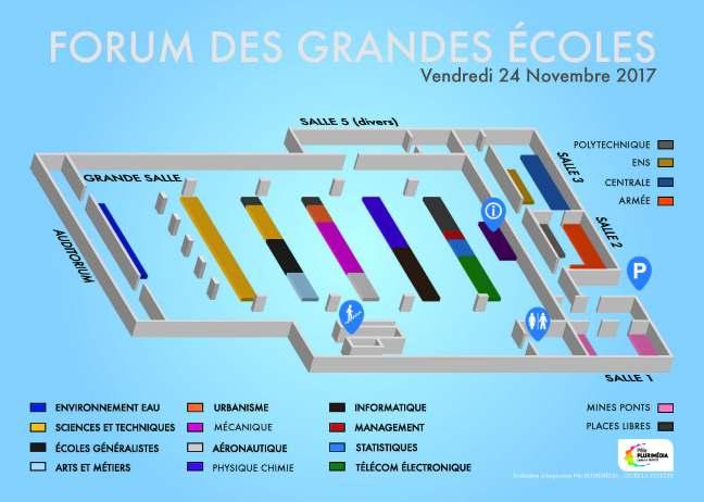 plan du forum des grandes écoles à Clermont-Ferrand