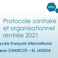 Protocole sanitaire et organisation de rentrée 2021