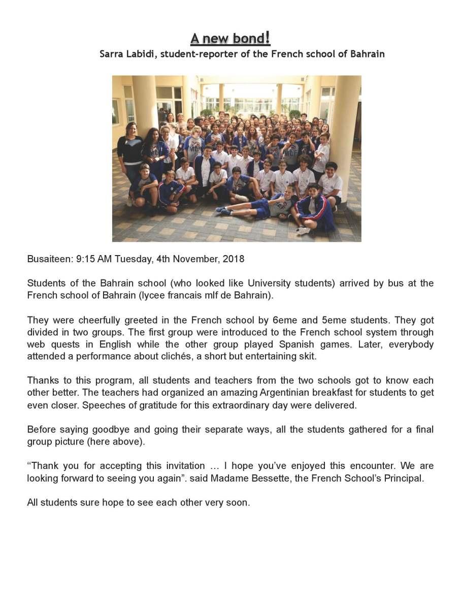 SARRA's article