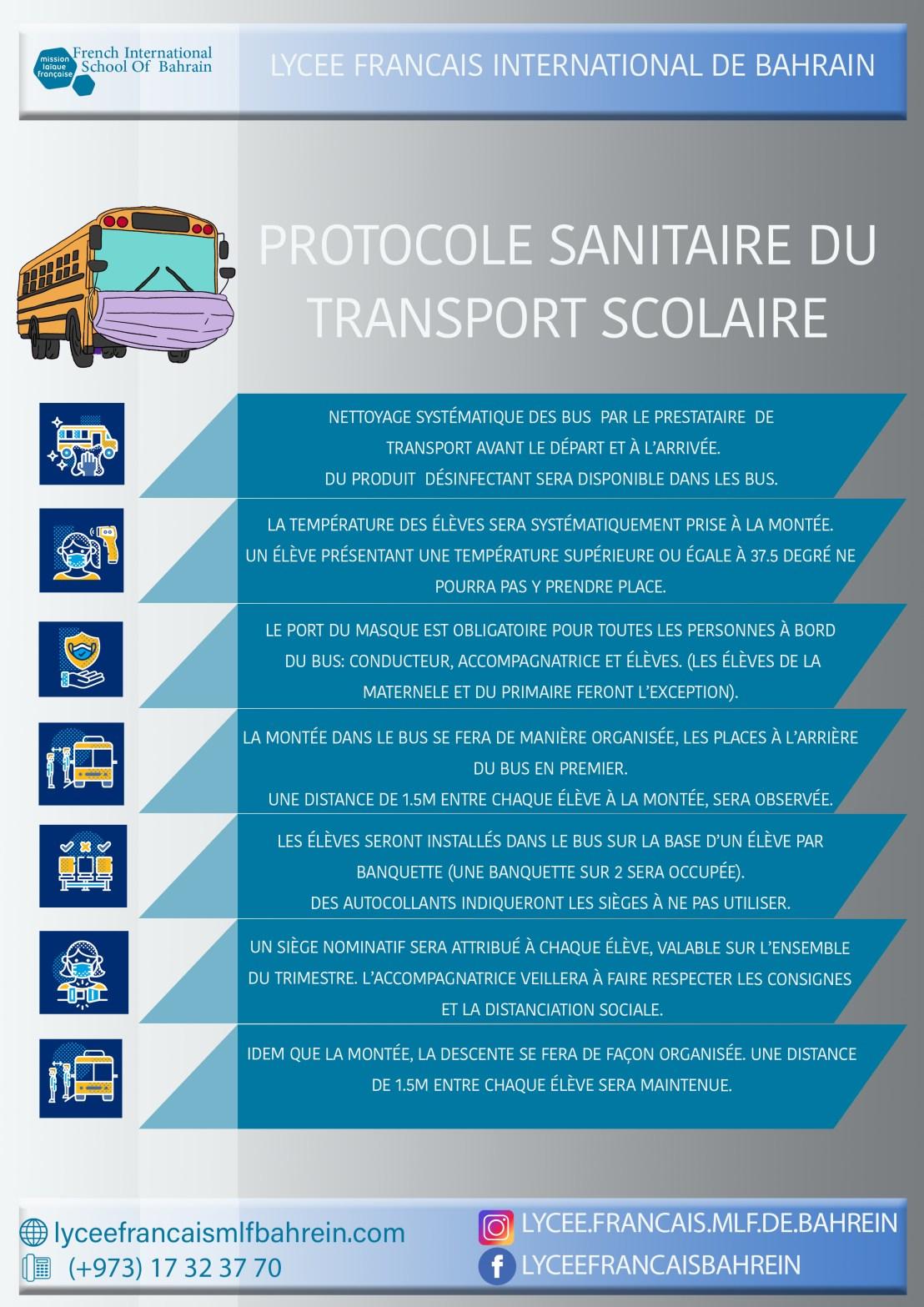 protocole sanitaire transport scolaire