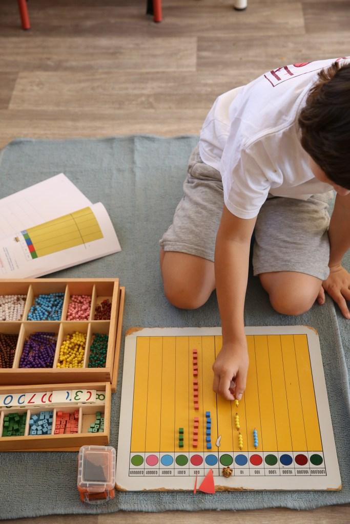 sections - primaire - à l'école montessori Athéna
