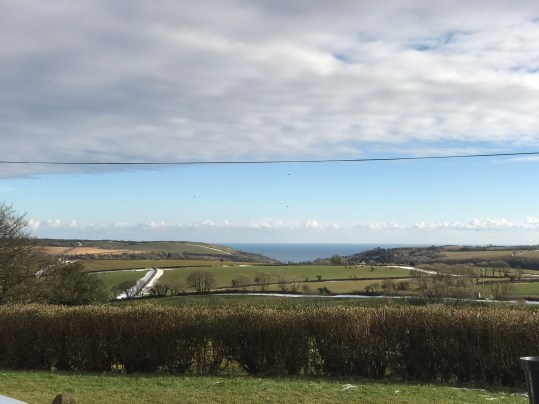 Clouds, sun and sea views at Lydcott Glamping Cornwall
