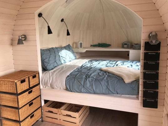 Prosecco glamping cabin Cornwall