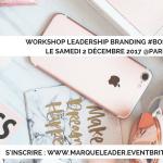 SAVE THE DATE – #GIRLBOSS – WORKSHOP LEADERSHIP BRANDING X PETIT DÉJEUNER COACHING le 2 décembre à PARIS