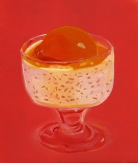 """""""Peachy,"""" oil on paper, 2012"""
