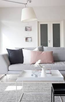 grey pink cushion