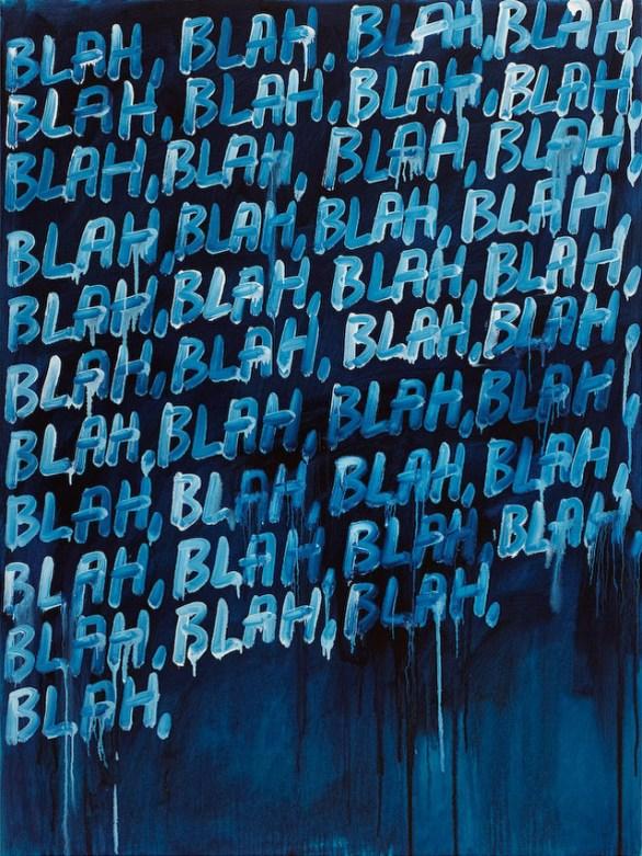 Blah Blah Blah, 2008, oil on canvas. Image source - http://www.simonleegallery.com/artists/mel_bochner/selected_works.html