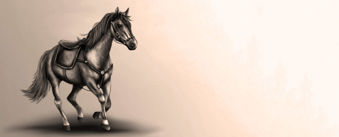Lydia Kurnia digital artwork - Horse