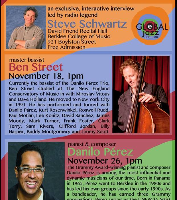 Masters Speak Series: Danilo Perez & Ben Street 11/18/13