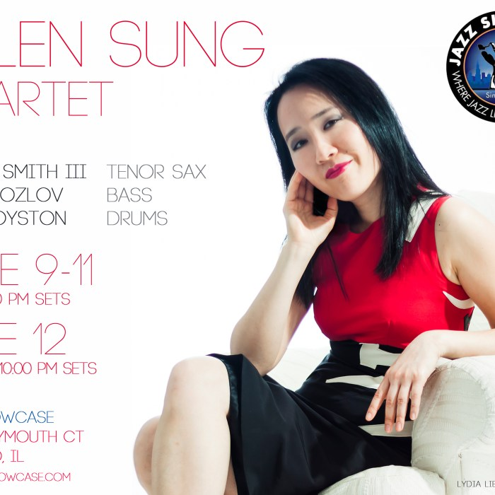 Helen Sung Quartet, Jazz Showcase, 6/9-6/12/16