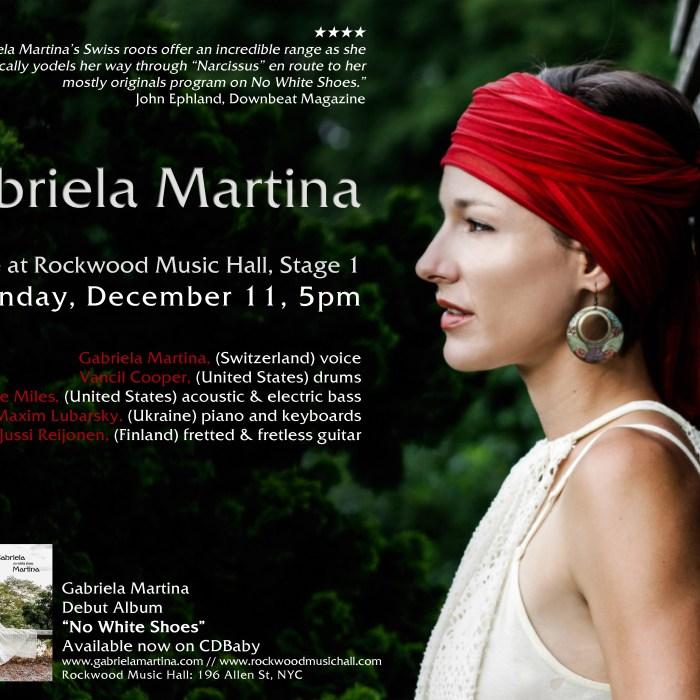 Gabriela Martina, 12/11/16, Rockwood Music Hall