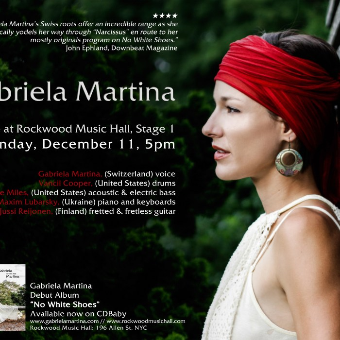 Gabriela Martina, 12/11/16, Rockwood Music Hall