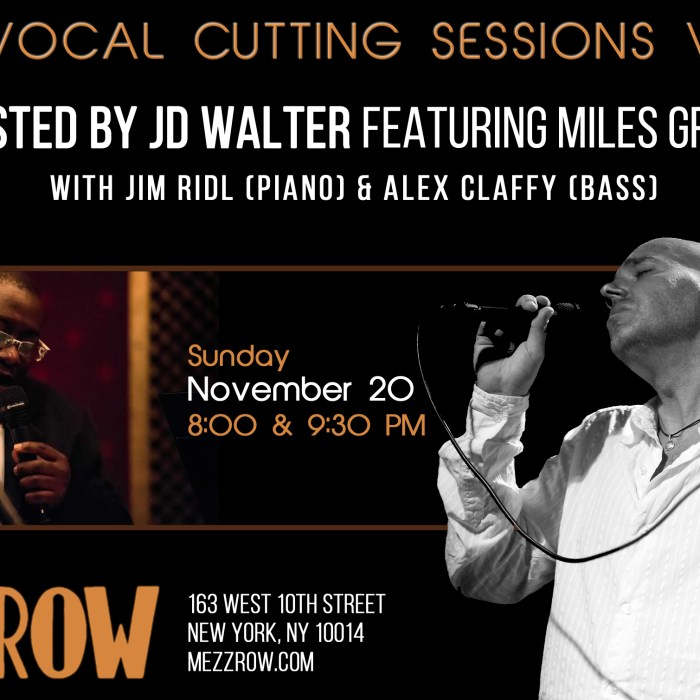 JD Walter, Mezzrow, 11/20/16