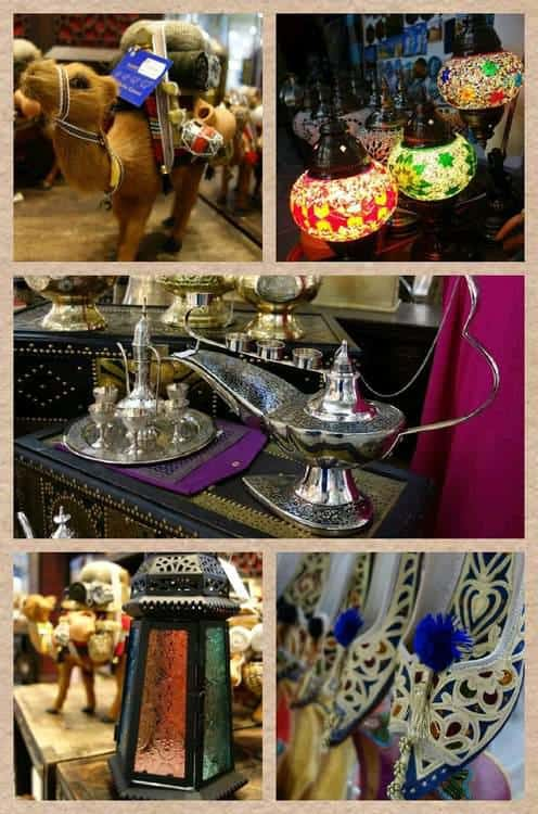 Lovely ornaments and items for sale along the market, a feast to the eyes