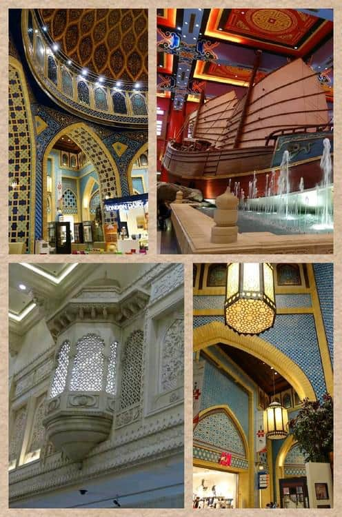 Themed interior at the Ibn Battuta - the longest running mall I have seen