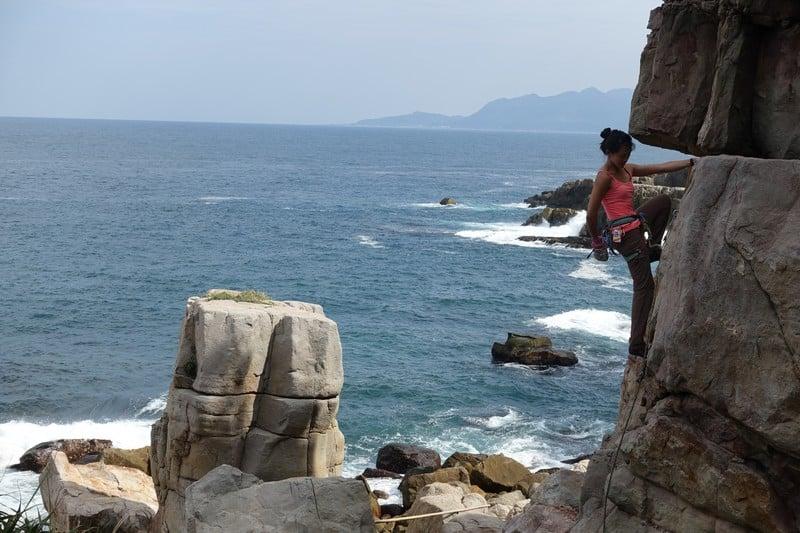 Lydiascapes Rock climbing at long dong taiwan