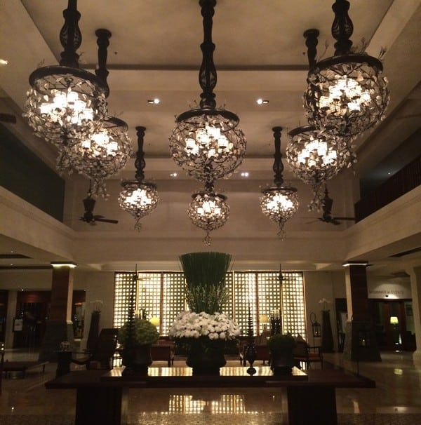 Grand Reception Area at St Regis Bali - never fails to impress