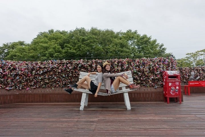 Fences of love locks at namsan