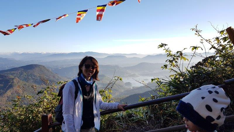 Climbed Adam's Peak and witnessed the sunrise view from the temple top. Did I mention I climbed it with a sprain ankle.