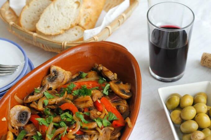 Tapas Tuesday – Chorizo, Mushrooms and Onions