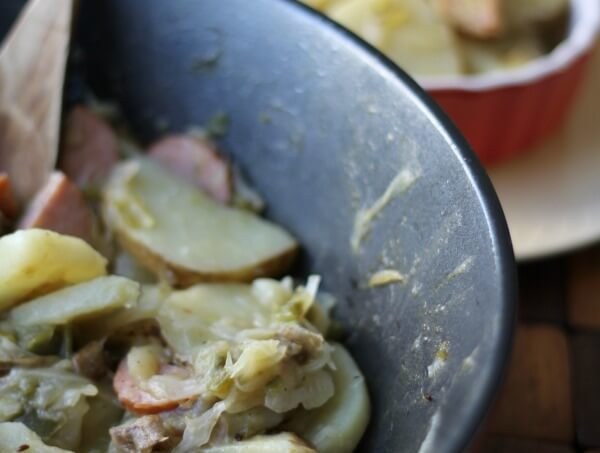 Sauerkraut and Sausage Skillet