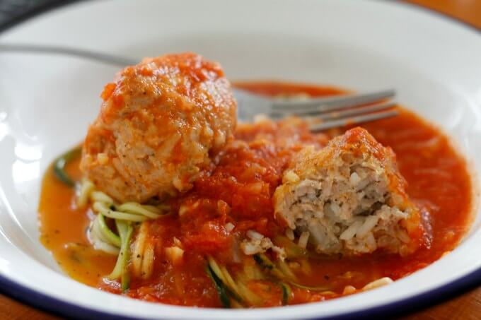 Chicken Meatballs with Hierbabuena {Recipe ReDux}