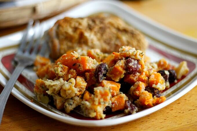 Potluck Heaven: Butternut Squash, Apple and Cranberry Gratin