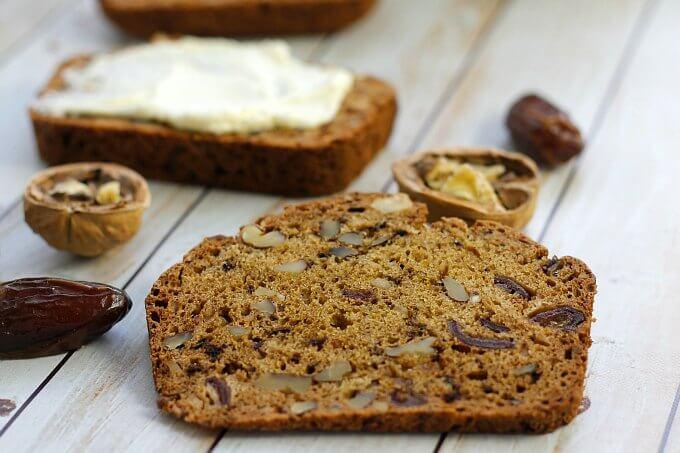 Date Nut Bread with Orange Cream Cheese Spread {The Recipe ReDux}