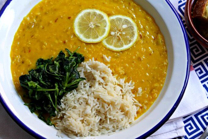 Lemony Red Lentil and Onion Soup