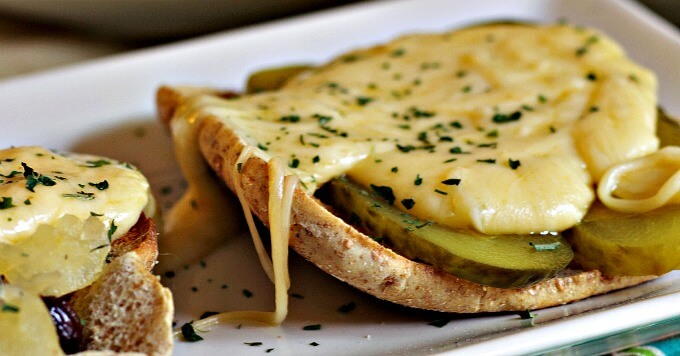 Cheese Toasts with Pickle