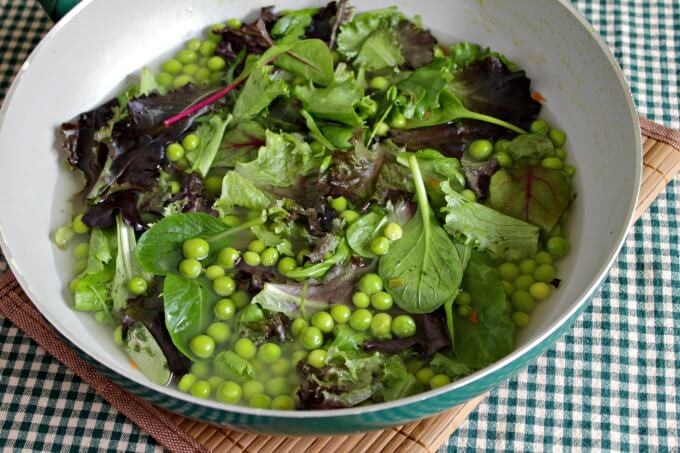 Fresh Peas and Lettuce