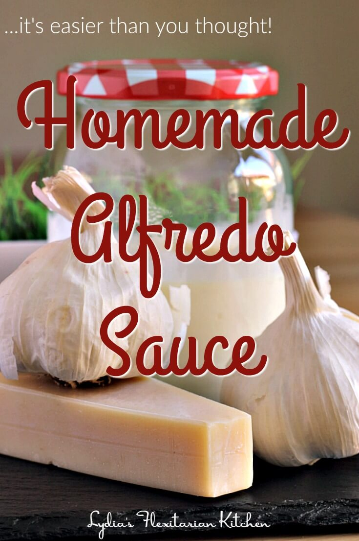 Make your own alfredo sauce with just a few quality ingredients! It doesn't take long and you can make just the amount you need.