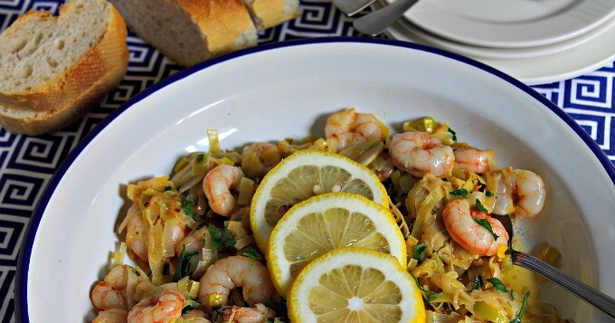 Shrimp and Leek Skillet