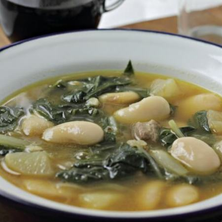 Caldo Gallego ~ #CaminoFlavors ~ Lydia's Flexitarian Kitchen