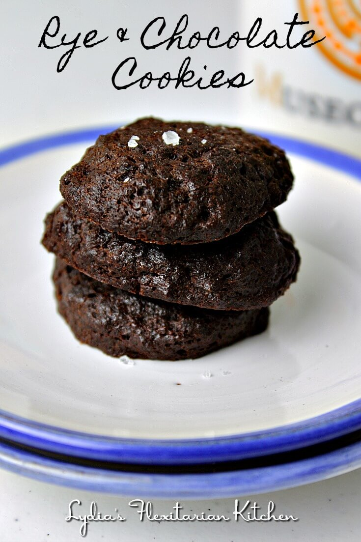 There are only 5 ingredients in these Rye and Chocolate Cookies. They're fun to make and you will be pleasantly surprised by their taste and texture.