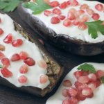 Eggplant with Pomegranate ~ Lydia's Flexitarian Kitchen