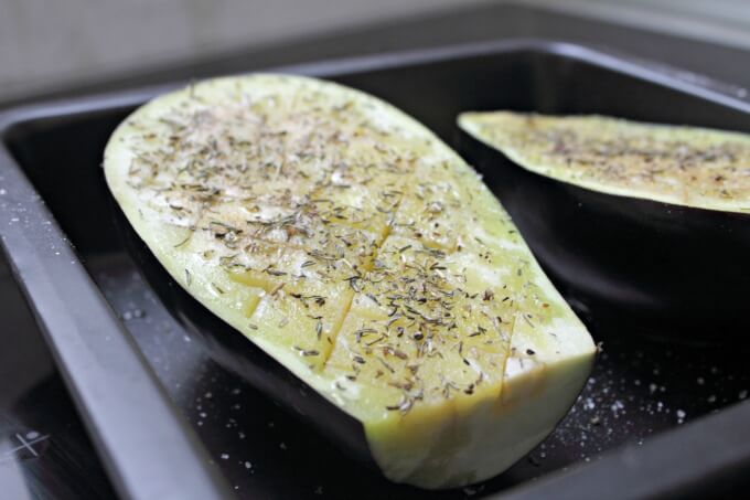 Eggplant with Pomegranate ~ Lydia's Flexitarian Kitchen