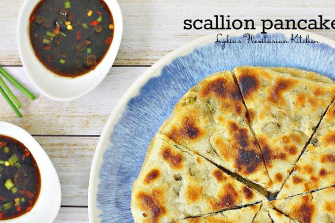 Scallion Pancakes ~ Lydia's Flexitarian Kitchen