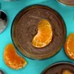photo of homemade chocolate custard