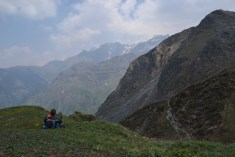 taking a break in the Himalaya