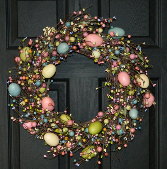 Pastel Easter Egg Wreath